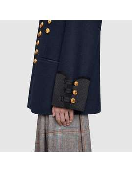 Felt Coat With Anchor Patch by Gucci