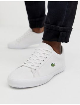 Lacoste – Lerond – Sneaker Aus Weißem Canvas by Asos
