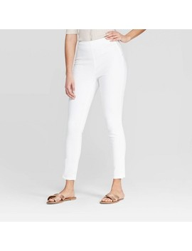 Women's Regular Fit High Rise Skinny Ankle Pants   A New Day White by Rise Skinny Ankle Pants