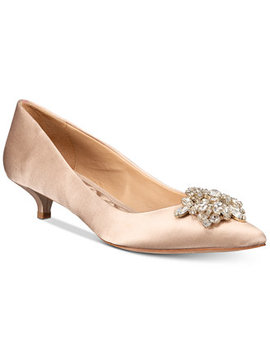 Vail Evening Pointed Toe Kitten Heel Pumps by General