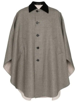Houndstooth Long Cape by Gucci