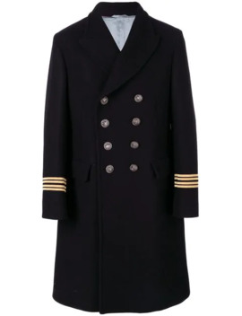 Embroidered Double Breasted Coat by Gucci