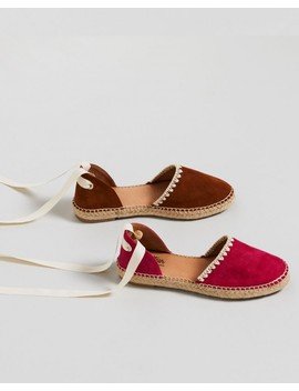 Ulyssa Hot Pink Suede Cut Out Espadrille Flat by Wittner