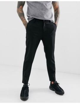 Bershka Skinny Cropped Trousers In Black by Bershka