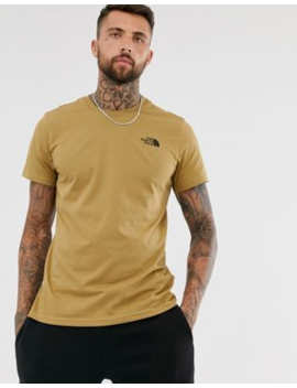 The North Face Simple Dome T Shirt In Khaki by The North Face