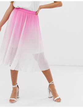 Chi Chi London Petite Pleated Midi Skirt In Pink Two Piece by Chi Chi London