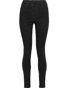 + Steph Shep Lace Up High Rise Skinny Jeans by J Brand