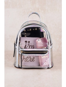 Holly Black Transparent Mini Backpack by Tobi