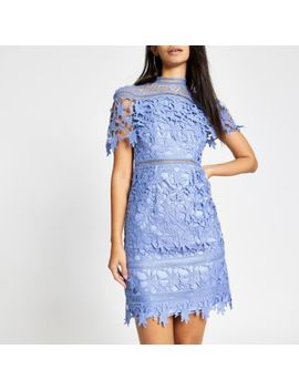 Chi Chi London Blue Lace Willow Dress by River Island