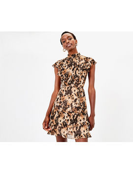 Smudge Print Skater Dress by Oasis