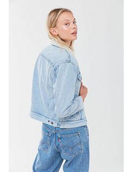 Levi's Ex Boyfriend Sherpa Denim Trucker Jacket by Levi's