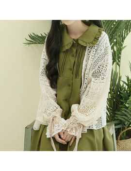 Sechuna   Open Front Lace Cardigan by Sechuna