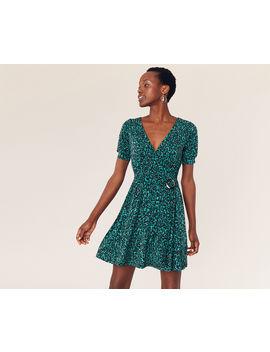 Animal Wrap Dress by Oasis