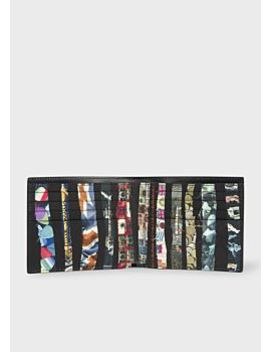 Men's Black Leather 'archive' Print Interior Billfold Wallet by Paul Smith