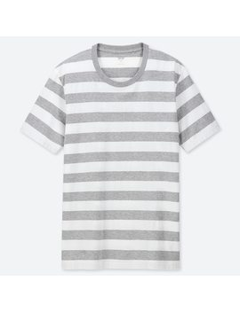 Herren Gestreiftes T Shirt Aus 100 % Supima Baumwolle by Uniqlo