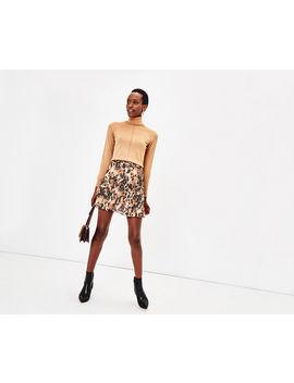 Smudge Print Mini Skirt by Oasis