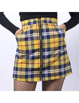New 2019 Koko Yellow Pliad 90 S Grunge A Line Mini Skirt /Pocket by Kokopiecoco