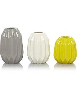 Set Of 3 Vases by Asda