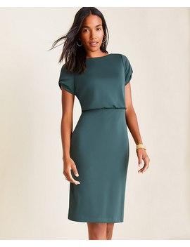 Petite Slit Sleeve Matte Jersey Sheath Dress by Ann Taylor