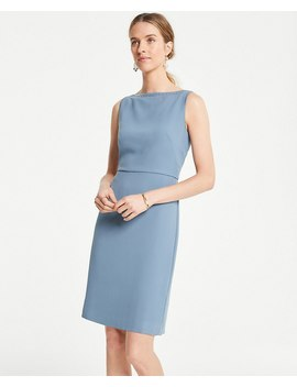 Petite Embroidered Trim Sheath Dress by Ann Taylor