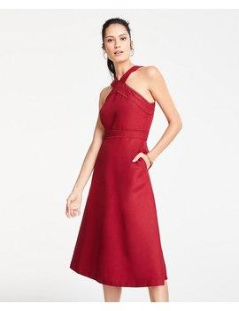 Petite Halter Midi Flare Dress by Ann Taylor