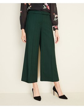 The Petite Belted Wide Leg Marina Pant In Glen Plaid by Ann Taylor