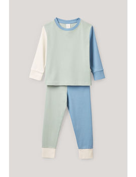 Colour Block Pyjama Set by Cos