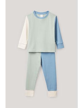 Colour Block Pyjama Set by Cos
