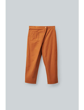 Cotton Trousers With Wrap Fastening by Cos