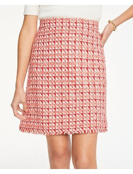 Petite Fringe Tweed A Line Skirt by Ann Taylor