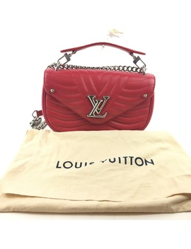 Louis Vuitton Calfskin New Wave Chain Mm Ecarlate by Louis Vuitton