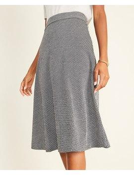 Petite Diamond Jacquard Full Skirt by Ann Taylor