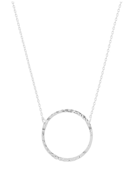 sterling-silver-hammered-circle-of-life-necklace by accessorize
