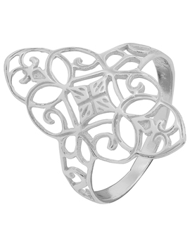 Sterling Silver Statement Filigree Ring by Accessorize