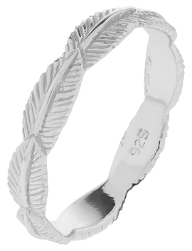 sterling-silver-feather-band-ring by accessorize