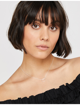 Sterling Silver Hexagon Necklace by Accessorize