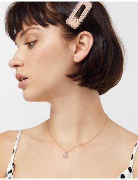 Sparkle Pink Opal Pendant Necklace by Accessorize
