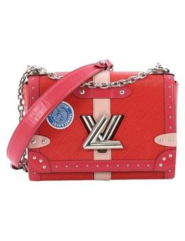 Twist Handbag Limited Edition Trunks Mm Red Epi Leather Shoulder Bag by Louis Vuitton