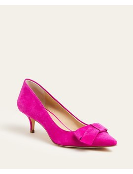 Reese Suede Bow Pumps by Ann Taylor