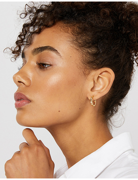 Sparkle Star Set Chunky Hoop Earrings by Accessorize