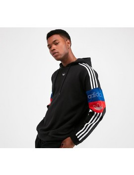 Team Signature Trefoil Hooded Top | Black / Core Red / Collegiate Royal by Adidas Originals