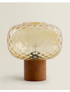 Lampe Aus Geschliffenem Glas  Beleuchtung   Schlafzimmer by Zara Home