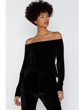 Gimmie Gimme Velour Lounge Top by Nasty Gal