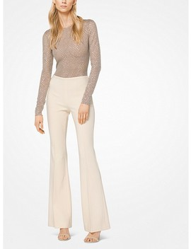 Stretch Pebble Crepe Flared Trousers by Michael Kors Collection