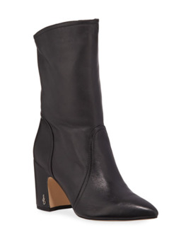 Sam Edelman Hartley Pointed Toe Leather Booties by Sam Edelman