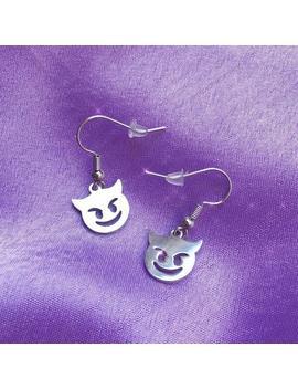 Devil Emoji Charm Earrings by Etsy