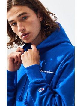 Champion Script Embroidered Reverse Weave Pullover Hoodie by Pacsun
