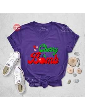 Cherry Bomb T Shirt, Joan Jett Runaways, Retro 70s Shirt, Cherry Bomb Tee, Slogan Tee, Women's Graphic T Shirt, Ladies Rock N Roll Shirt by Etsy