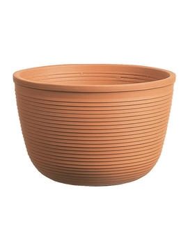 Cache Ribbed Garden Plant Pot   24cm by Homebase