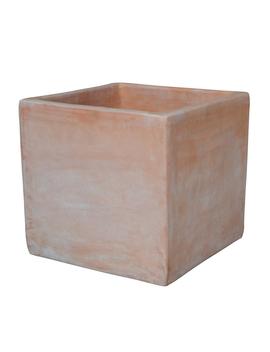 Terracotta Cube Planter   19cm by Homebase